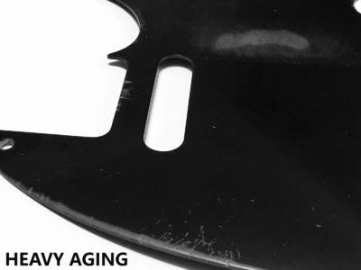Heavy Aged Telecaster bakelite pickguard closeup 2