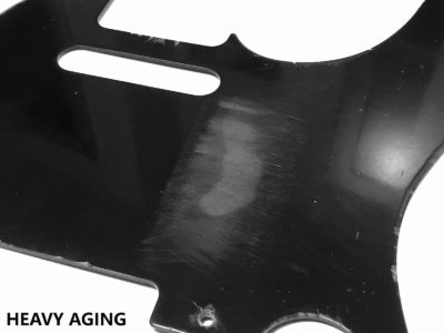Heavy Aged Telecaster bakelite pickguard closeup