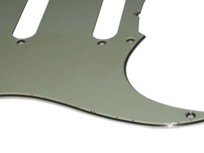 Mint Green Stratocaster vintage light relic guard close
