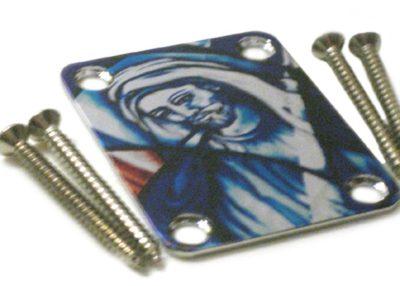 NP-110 Custom Shop color Jesus neckplate close