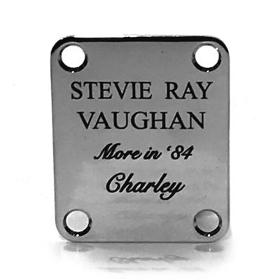 Stevie Ray Vaughan Charley Stratocaster neckplate