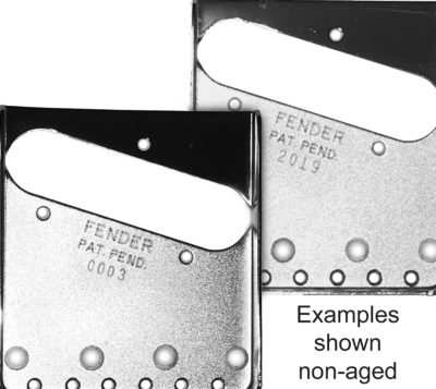 Telecaster Bridge plates with serial numbers