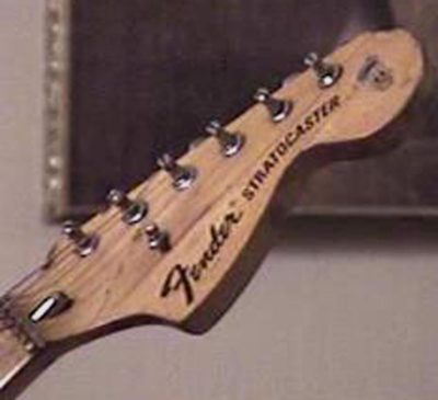 Yngwie Malmsteen REAL duck Stratocaster headstock