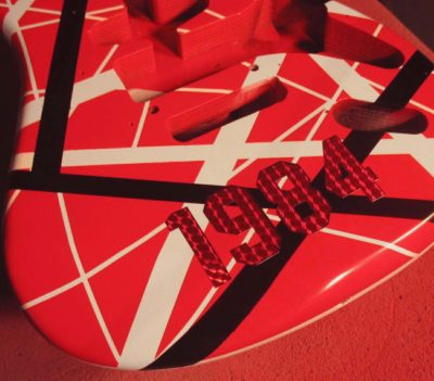 EVH 1984 decals stickers on guitar