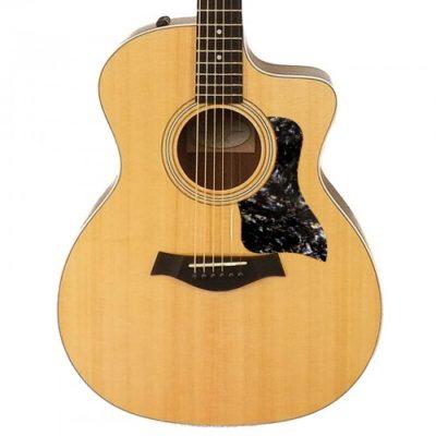 Taylor black abalone acoustic pickguard on guitar