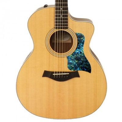 Taylor blue abalone acoustic pickguard on guitar