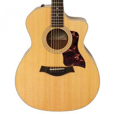 Taylor maroon vintage tortoise acoustic pickguard on guitar