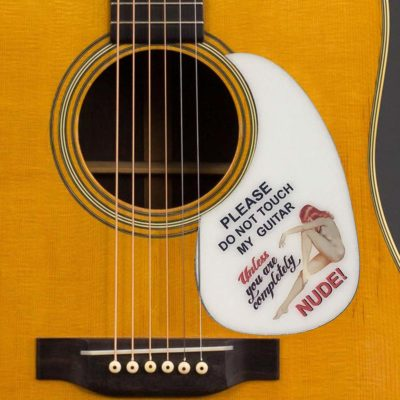 please dont touch unless nude martin acoustic pickguard on guitar