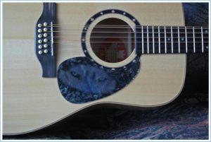 Spirit the Husky dog- Custom Acoustic Pickguard