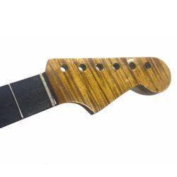 Custom Flamed Maple Stratocaster neck headstock