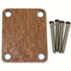 Lacewood custom shop guitar neckplate