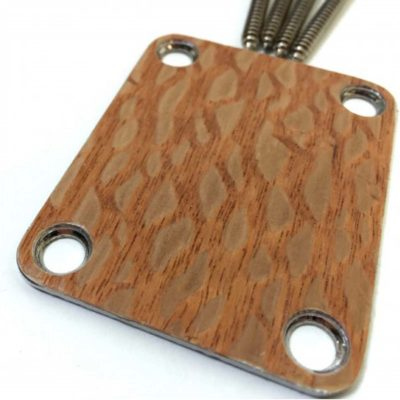 Lacewood custom shop guitar neckplate close