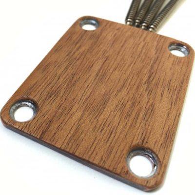 MAHOGANY Custom Shop Guitar neck plate closeup
