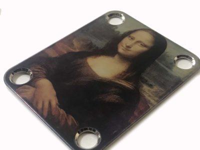Mona Lisa Guitar Neckplate - Custom Da Vinci Closeup