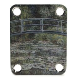 Monet Waterlily custom neckplate for Stratocaster guitar
