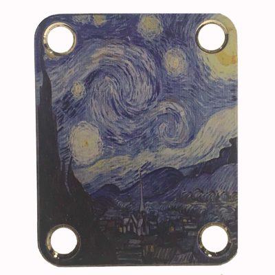 Starry Night Guitar Neckplate - Custom Van Gogh