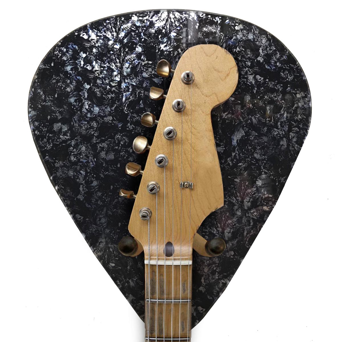 Axetreme Pick Guitar Wall Hanger™ - Includes String Swing Hanger - Black Abalone