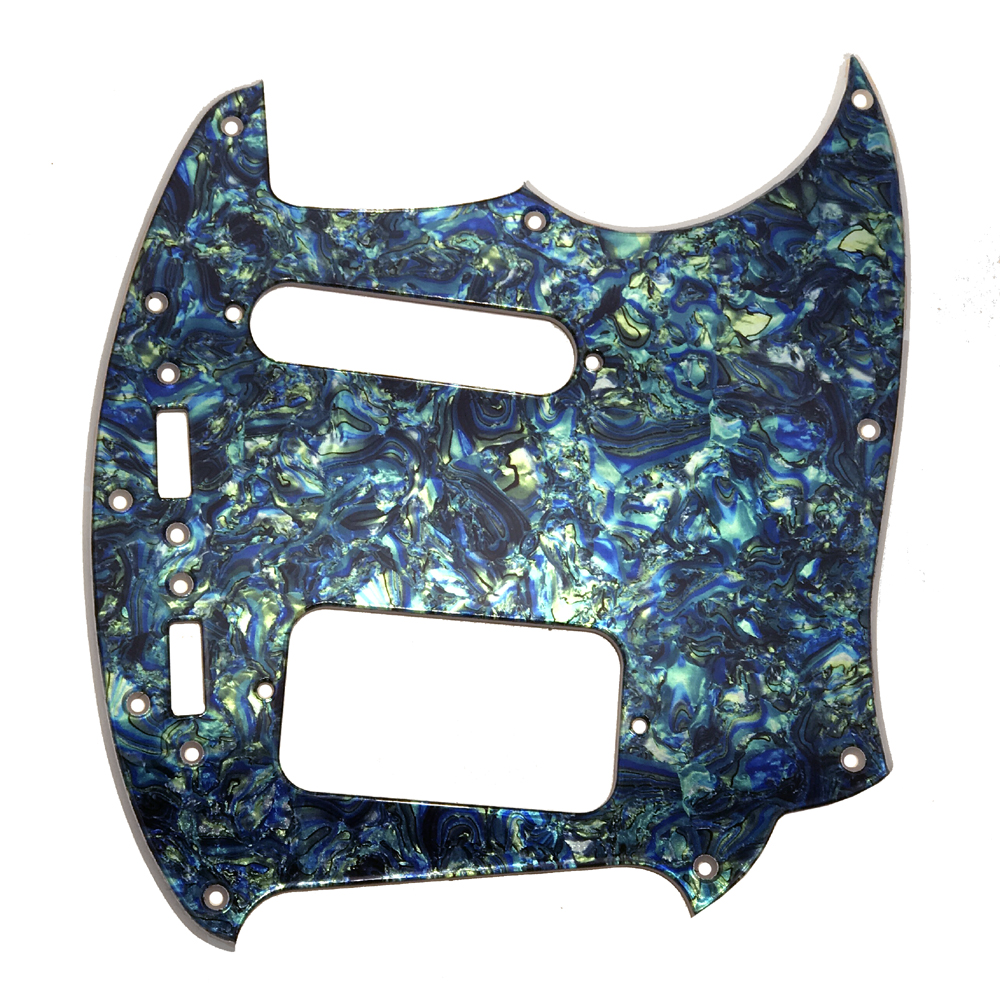 Jag-Stang ® 2-ply Pickguard - Blue / Green Faux Abalone- CUSTOM ORDER
