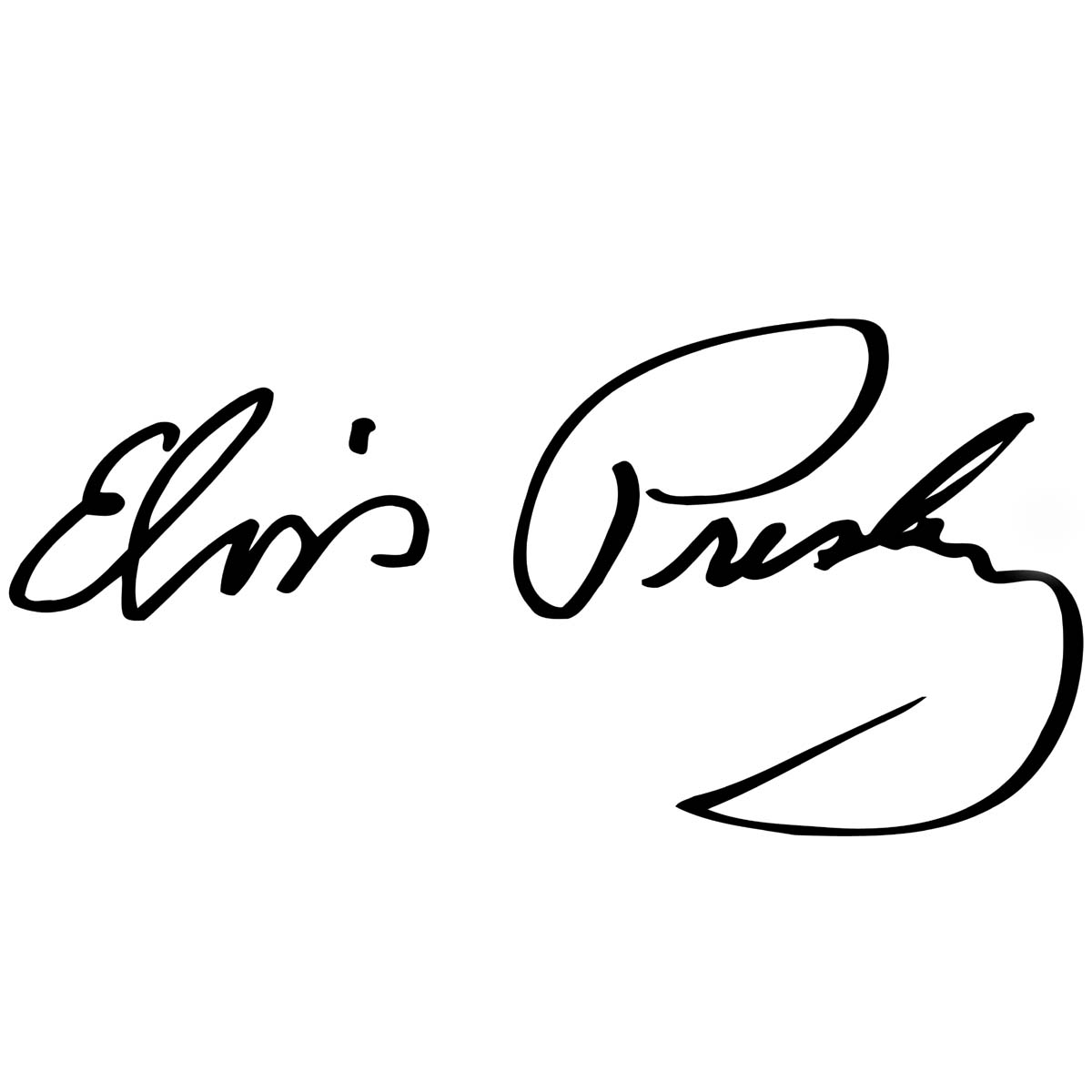 Elvis Presley Signature Waterslide Decal