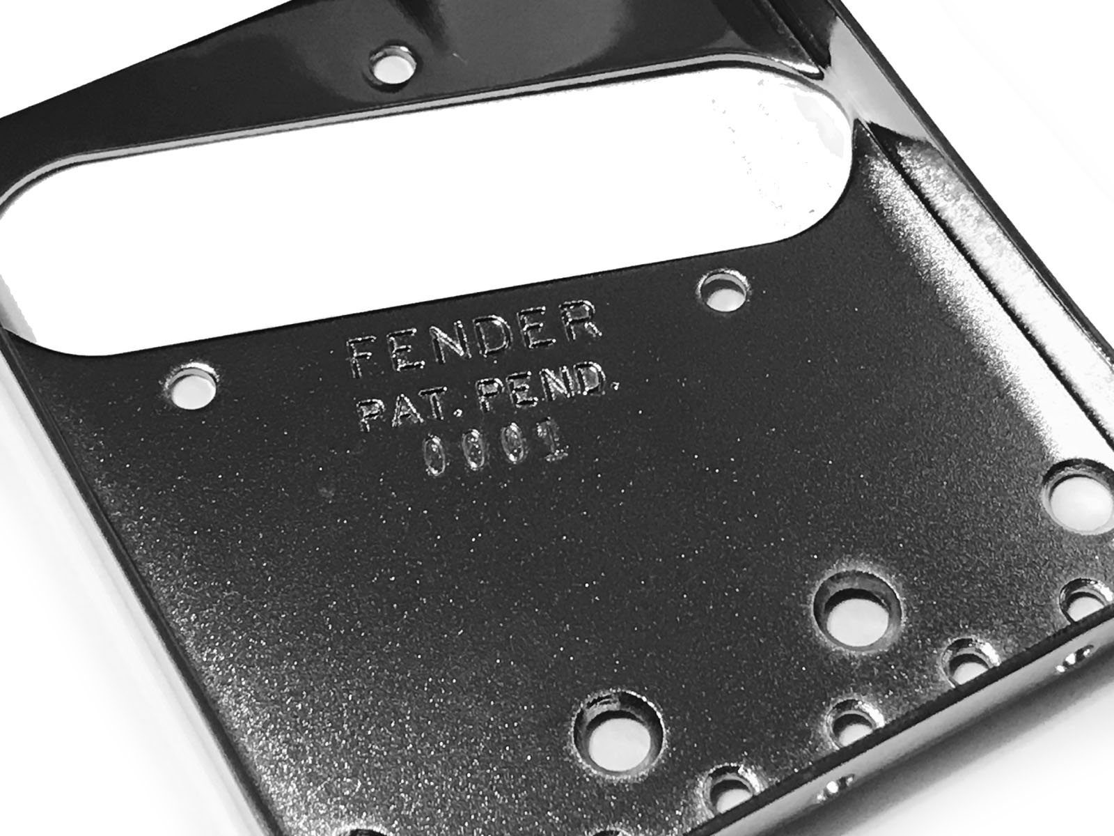1952 Reissue Telecaster Pat Pending Bridge Plate- Stamped 0001 Serial Number