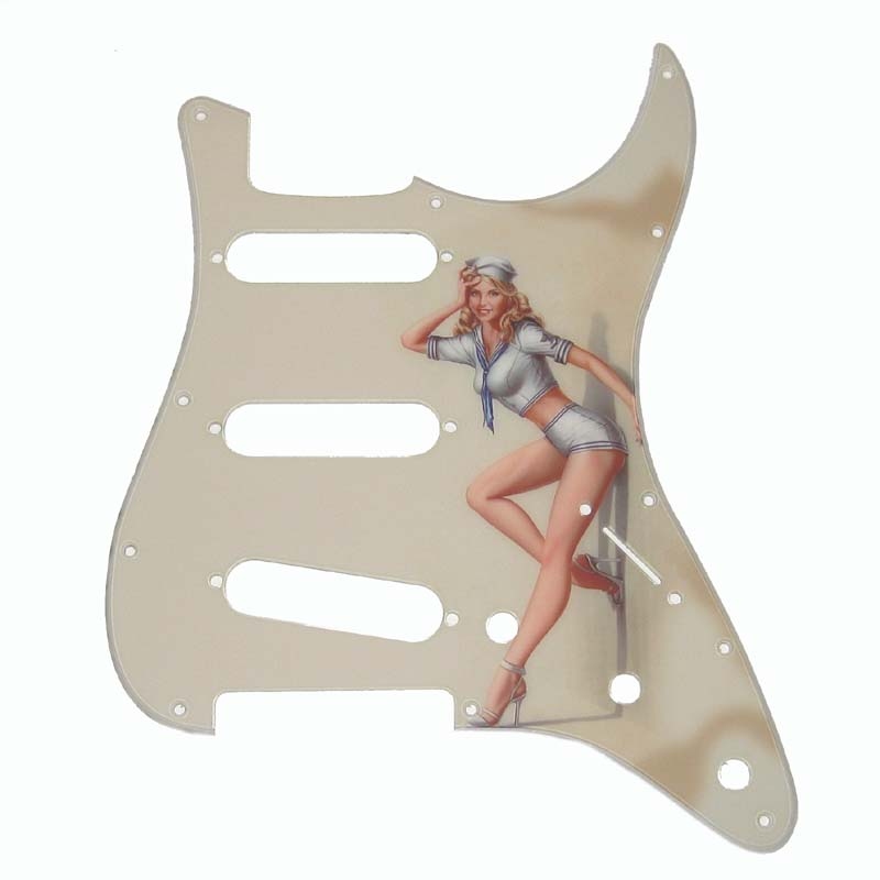 Stratocaster 50s Pinup Girl Pickguard - 2-ply - 131