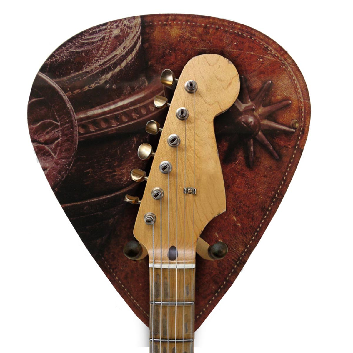 Axetreme Pick Guitar Wall Hanger™ -  Includes String Swing Hanger - Western Cowboy Spurs