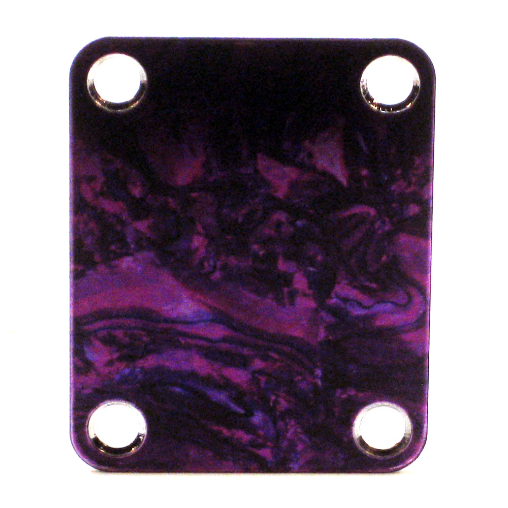Custom Shop Neckplate Purple Abalone Look -Fits Strat /Tele / Bass - 131