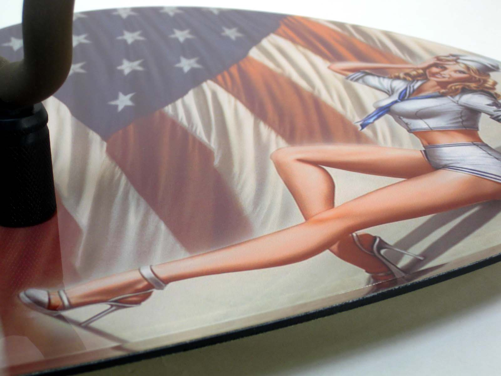 Axetreme Pick Guitar Wall Hanger™ - Includes String Swing Hanger -  Sailor Pinup Girl - USA Flag