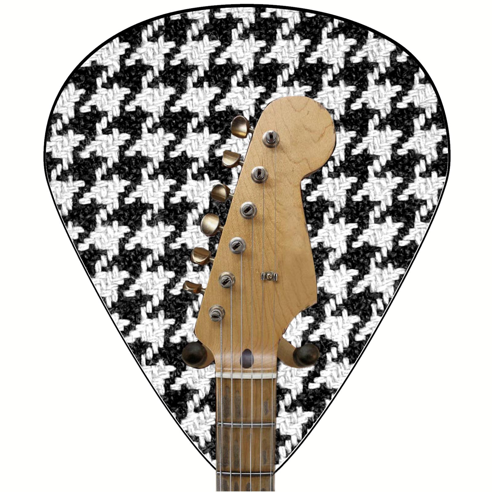 Axetreme Pick Guitar Wall Hanger™ -  Includes  String Swing Hanger - Vintage Houndstooth