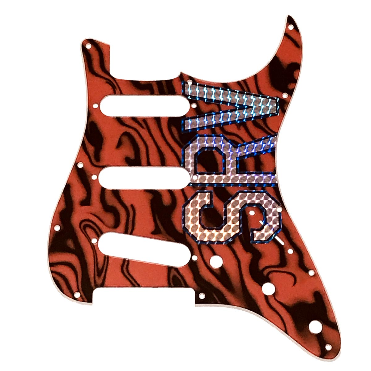 SRV Scotch Stratocaster  2-Ply Tiger Striped Pickguard