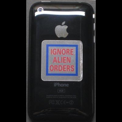 IPhone / IPod 1.5inch Joe Strummer IGNORE ALIEN ORDERS Replica Decal