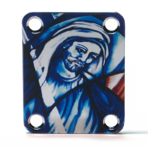 Custom Shop COLOR Neckplate Christian / Jesus  -Fits Strat /Tele / Bass -SPECIAL ORDER