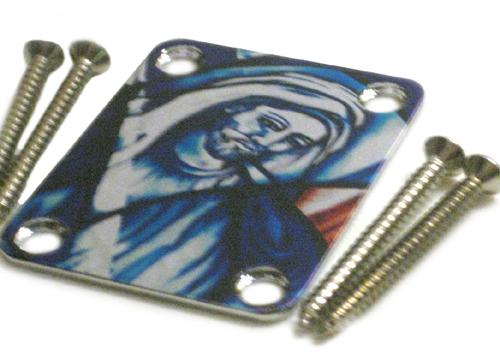 Custom Shop COLOR Neckplate Christian / Jesus  -Fits Strat /Tele / Bass -SPECIAL ORDER