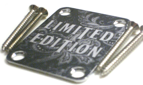 Custom Shop Neckplate Limited Edition Paisely  -Fits Strat /Tele / Bass - 012