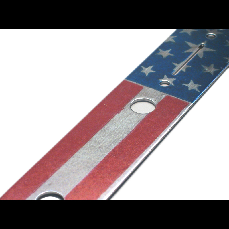 Graphic Telecaster / Esquire Control Plate - Worn USA Flag - 014