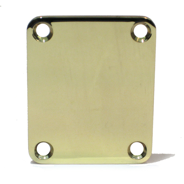 SOLID BRASS Neck Plate - Fits Tele / Strat / Bass