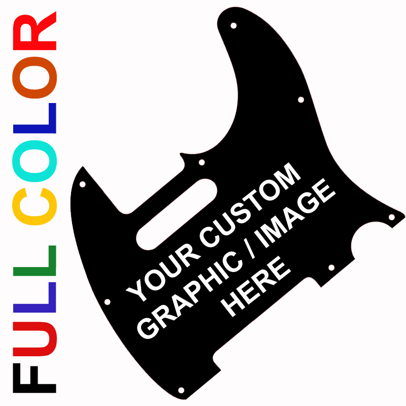 Telecaster YOUR Custom Design / Logo Pickguard - 2-ply