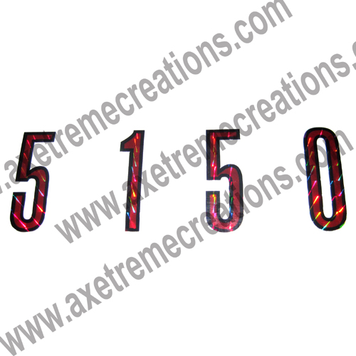 EVH Holographic 5150 Stickers / Decals