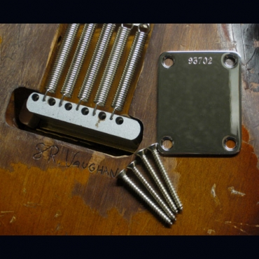 SRV  Number 1 / First Wife Replica Neckplate / Screws