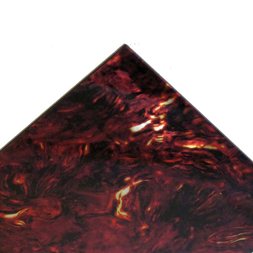 Faux Red / Maroon Tortoise IRIDESCENT Acoustic Pickguard Sheet Stock